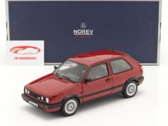 Volkswagen VW Golf II GTI Année de construction 1990 rouge métallique 1:18 Norev