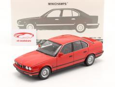 BMW 535i (E34) Año de construcción 1988 rojo 1:18 Minichamps