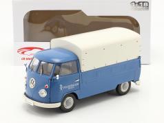 Volkswagen VW T1 Pick-Up avec couverture Volkswagen Service 1950 bleu 1:18 Solido