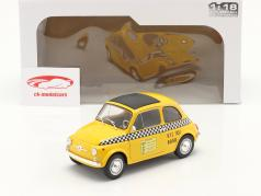 Fiat 500 L Taxi New York City 1965 желтый 1:18 Solido