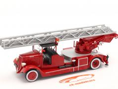 Delahaye Тип 103 Пожарная часть С участием Лестница поворотная красный 1:43 Altaya