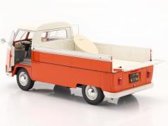 Volkswagen VW T1 Pick-Up 1950 orange / white 1:18 Solido