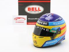Fernando Alonso #14 Alpine F1 Team Formel 1 2021 Helm 1:2 Bell