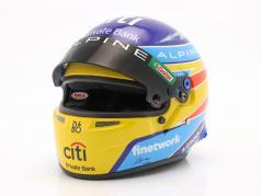 Fernando Alonso #14 Alpine F1 Team формула 1 2021 шлем 1:2 Bell
