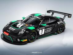 Porsche 911 GT3 R #3 24h Spa 2021 Charity Modello di automobile Schnabl Engineering 1:43 Minichamps