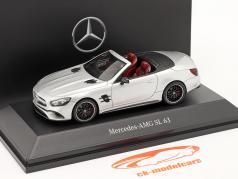 Mercedes-Benz AMG SL 63 Cabriolet (R231) Byggeår 2014 iridium sølv 1:43 Spark