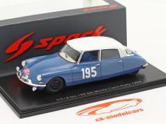 Citroen DS19 #195 5 ª Rallye Monte Carlo 1963 Neyret, Terramorsi 1:43 Spark