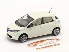Renault Zoe Année de construction 2013 blanche métallique 1:43 Norev