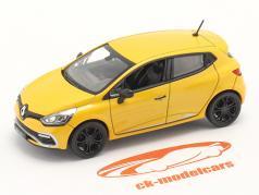 Renault Clio IV RS bouwjaar 2012 geel 1:43 Norev