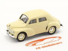 Renault 4CV 建設年 1947 クリーム  白い 1:43 Norev