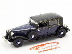 Renault Reinastella bouwjaar 1928-1933 donkerblauw / zwart 1:43 Norev