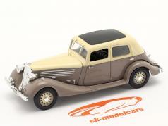 Renault Nervasport 建設年 1932-1935 茶色 / ベージュ 1:43 Norev