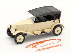 Renault 6CV Type NN Torpedo bouwjaar 1925 crème wit / zwart 1:43 Norev