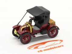 Renault Type AX 建設年 1908-1913 暗い 赤 / 黒 1:43 Norev