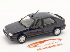 Renault 19 (R19) Año de construcción 1988 azul oscuro 1:43 Norev
