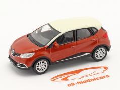 Renault Captur Byggeår 2013 mørk orange metallisk / hvid 1:43 Norev