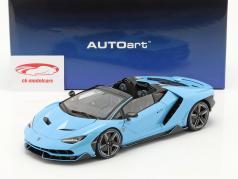 Lamborghini Centenario Roadster Año de construcción 2016 Azul claro 1:18 AUTOart