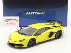 Lamborghini Aventador SVJ Año de construcción 2019 amarillo 1:18 AUTOart