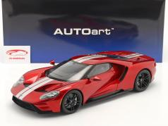 Ford GT Byggeår 2017 Rød / sølv 1:12 AUTOart