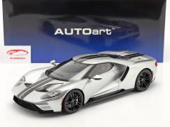 Ford GT Byggeår 2017 sølv / sort 1:12 AUTOart