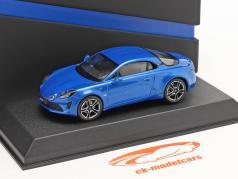 Alpine-Set: Guide Michelin, Câble de charge et Alpine A110 2017 bleu 1:43 Norev