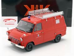 Ford Transit Fourgon Sapeurs pompiers Westfalen Année de construction 1965 rouge 1:18 KK-Scale