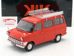 Ford Transit Bus Ano de construção 1965 vermelho 1:18 KK-Scale