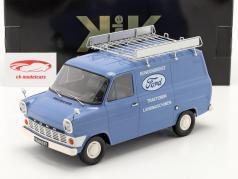 Ford Transit Box van Ford Customer service year 1970 light blue 1:18 KK-Scale