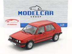 Volkswagen VW Golf II GTD 5-deurs bouwjaar 1984 rood 1:18 Model Car Group