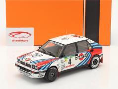Lancia Delta Integrale 16V #4 2. plads Rallye Portugal 1990 Auriol, Occelli 1:18 Ixo