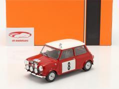Mini Cooper S RHD #8 RAC Rallye 1965 Hopkirk, Liddon 1:18 Ixo