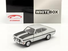 Opel Kadett B Rallye zilver / bevroren zwart 1:24 WhiteBox