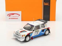 Peugeot 205 T16 E2 #3 2. plads Rallye 1000 Lakes 1986 Kankkunen, Piironen 1:24 Ixo
