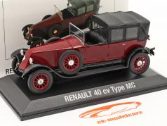 Renault 40 CV MC 建設年 1923-1923 赤 / 黒 1:43 Norev