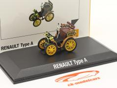 Renault Voiturette Type A 建設年 1899 黒 / 茶色 / 黄 1:43 Norev