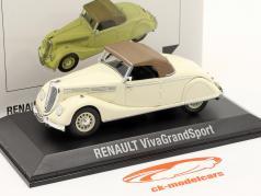 Renault Viva Grand Sport 建設年 1935-1939 クリーム 白い / 茶色 1:43 Norev
