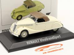 Renault Viva Grand Sport Année de construction 1935-1939 crème blanche / brun 1:43 Norev