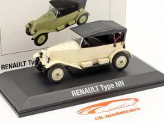Renault 6CV Type NN Torpedo Ano de construção 1925 creme Branco / Preto 1:43 Norev