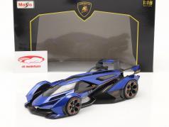 Lamborghini V12 Vision GT 2020 blauw / zwart 1:18 Maisto