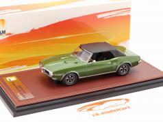 Pontiac Firebird 400 关闭 敞篷车 1968 绿色 金属的 / 黑色的 1:43 GLM