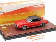 Pontiac Firebird 400 Gesloten Cabrio bouwjaar 1968 rood / zwart 1:43 GLM