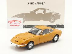 Opel GT 建設年 1970 黄土色の黄色 1:18 Minichamps