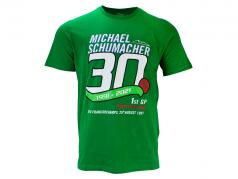 Michael Schumacher T-Shirt Erster Formel 1 GP Spa 1991 grün