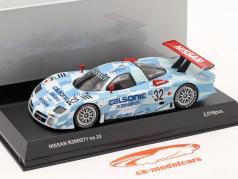 Nissan R390 GT1 #32 3ª Lugar, colocar 24h LeMans 1998 1:43 Kyosho