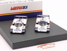 2-вагонный Set Porsche 956K #1 & #2 1000km Nürburgring 1983 1:43 Werk83