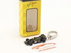 Ayrton Senna キーホルダー Lotus 97T #12 方式 1 1985 1:87 Ixo