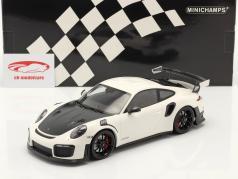 Porsche 911 (991 II) GT2 RS Weissach Package 2018 wit / zwart velgen 1:18 Minichamps