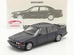 BMW 730i (E32) 建設年 1986 濃紺 メタリック 1:18 Minichamps