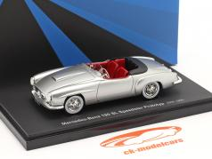 Mercedes-Benz 190 SL Speedster prototype 1954 silver 1:43 AutoCult