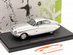 Peugeot 203 Darl'Mat DS year 1953 silver 1:43 AutoCult